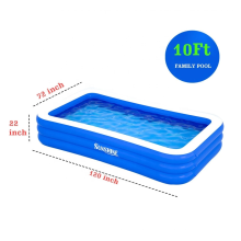 Portable inflatable swimming pool for kids