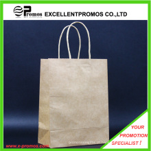 Personalizado saco de compras Kraft Natural logotipo (EP-FP55514B)