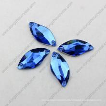 China al por mayor de alta refracción sin plomo corte de la máquina decorativa de espalda plana floja cose en el cristal para el vestido de boda