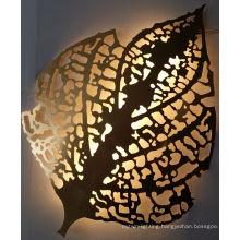 Elegant Stainless Steel Blade 8W 5050 LED Strip Wall Lamp