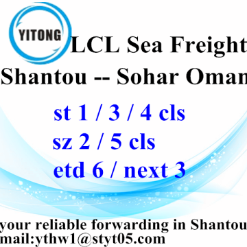 Shantou Global Freight Forwarder agente de Sohar Omã
