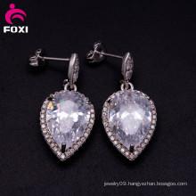 Cubic Zirconia Single Stone Woman Daily Wear Earring Designs