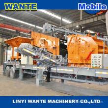 China heiße Verkauf Qualität kleine mobile Backenbrecher Station Mobile Stein Schneidemaschine mit Diesel-Motor
