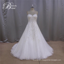 Embroidered Fashion Sample Perfect Wedding Dresses