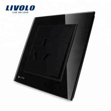 Livolo Alimentation universelle / Prise électrique avec interrupteur à un bouton VL-W2Z1B-12