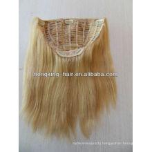 blonde human hair half wig for white women