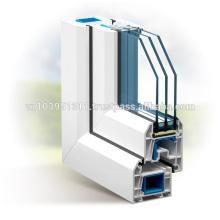 Plastic frame with glass door / uPVC Profile door