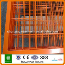 orange and yellow color pvc coated temporary fence to canada