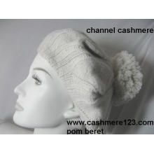 Cashmere Beret Hat POM Ty0917