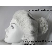 Sombrero de boina de cachemira POM Ty0917
