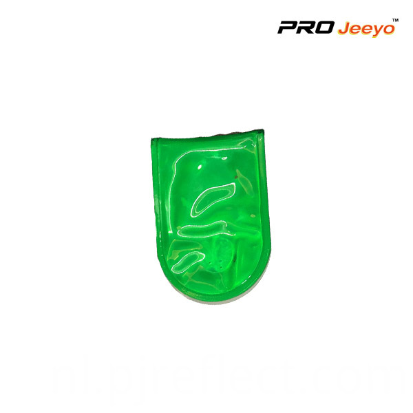 Reflective Pvc Green Led Light Magnetic Clip For Bagscj Pvc005