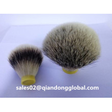 Forma de la bombilla Silvertip Badger Hair Knots