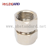 Brass Compression Fitting with Nickel Plated