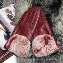 Hecho en China último diseño moda real guantes de piel