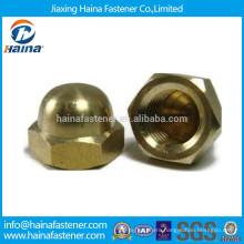 Brass Hex Acorn Nut, Brass Domed Head Cap Nut