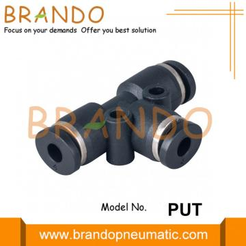 Union Tee Push In Miniature Pneumatic Fittings 4mm