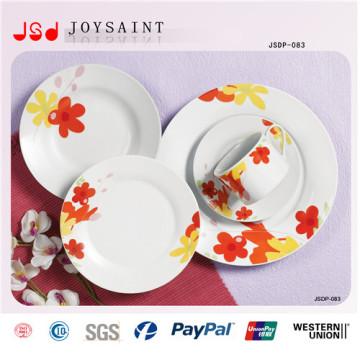 Plato de cena de cerámica de la porcelana de 18PCS pintado a mano