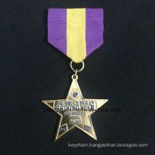 Custom Znic Alloy Medal Gold Medal Five-Pointed Star Medal Two Piece Combination Medal