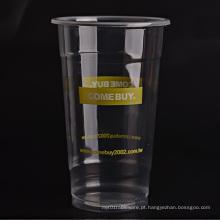 Transparente de copos de plástico personalizados