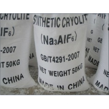 Cryolite Sintético em Pó Branco (Na3AlF6) para Abrasivos Ligados