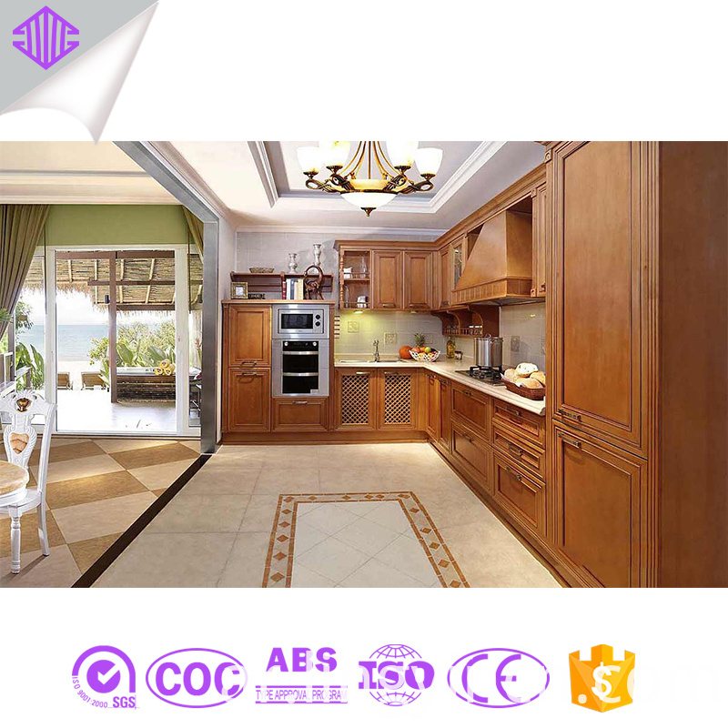 guangzhou kitchen cabinet simple designs solid wood kitchen cabinet