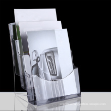 A4 Size Clear Transparent Leaflet Flyer Display Stand Acrylic Brochure Holder