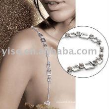 Bracelet en strass en métal carré
