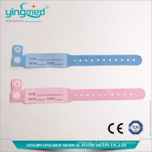 Bracelet d'identification du patient jetable