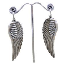 China fabricante, 2014 moda pendiente de acero inoxidable con alas de ángel, pendiente de las mujeres