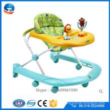 2016 China neue Modell Großhandel beste Qualität Kunststoff Baby Walker / einzigartige 8 Gummi Räder Baby Walker zum Verkauf