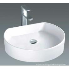 Glossy Solid Countertop Bathroom Basin (7088)