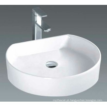 Bacia lustrosa contínua do banheiro do contador (7088)
