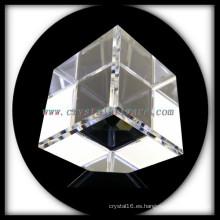 K9 En blanco alta calidad corte esquina cubo de cristal