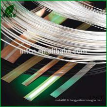 composants électriques argent bande bimétallique cuivre