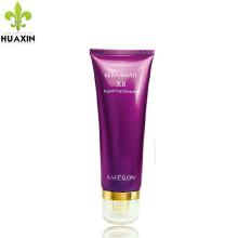 Tubo cosmético claro del empaquetado de la impresión del color púrpura del tubo cosmético
