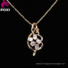 Brilliant Gemstone Brass Material Gold Pendants Jewelry