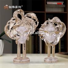 Décoration élégante maison masquée tête humaine décoration table polyresine art et artisanat