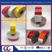 O costume imprimiu a fita reflexiva da segurança adesiva do tráfego da constipação do branco 6 ′ ′ e do vermelho 6 White do Red do do do