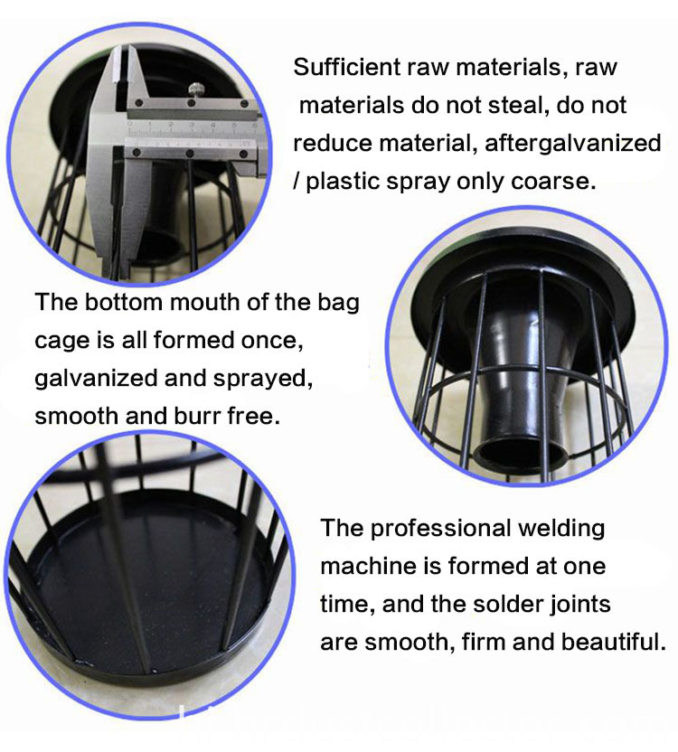 Details of the bag cage