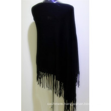 2017 high quality knitted 100% cashmere poncho women