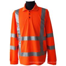 Рубашка поло с сеткой из пике высокой видимости