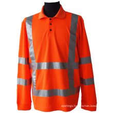High visibility pique mesh polo shirt