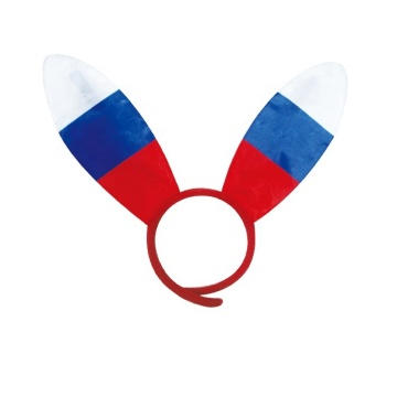 Bandeira de tiara para fãs de país nacional com logotipo personalizado