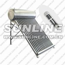 Acier inoxydable (ou acier galvanisé) 200L usage domestique intégré non pressurisé tube évacué Système de chauffage d'eau à énergie solaire w