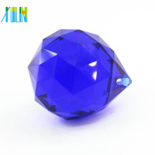 Fashion 50mm crystal glass faceted ball pendant for curtain CP100