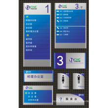 Colorful Directory Sign and Plaque for Dictional System