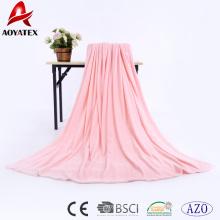 100% Polyester Flanell Fleece Decke warm, superweiche Flanell Fleece Decke mit Fransen, Polyester Flanell Fleece Decke China
