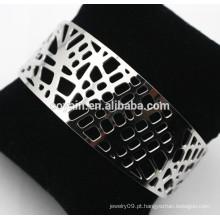 Bracelete de aço inoxidável de aço inoxidável 316L de alto brilho
