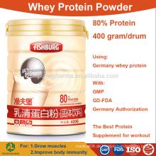 Großhandel Whey Protein Pulver konzentrieren 80% isolieren Bulk-Preise