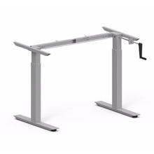 Mesa de duas pernas mesa com manivela ajustável em altura